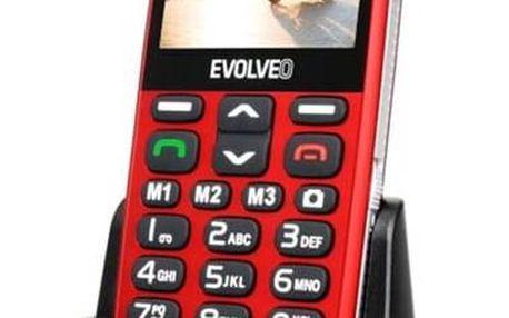 Evolveo EVOLVEO EasyPhone XD pro seniory (EP-600-XDR) červený