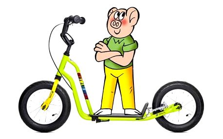 Yedoo Basic Čtyřlístek Mini - Bobík žlutá/zelená