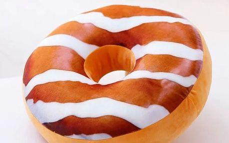 Plyšový polštář v podobě donutu - dodání do 2 dnů
