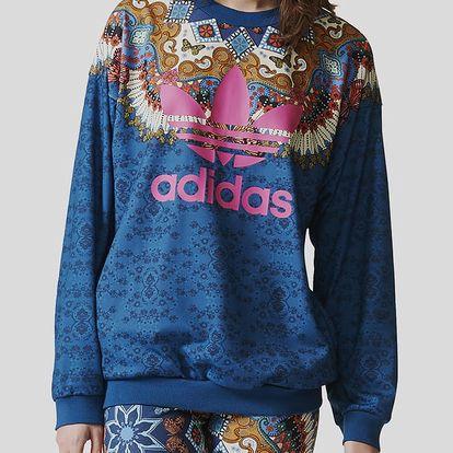 Mikina adidas Originals BORBOMIX SWEAT Modrá