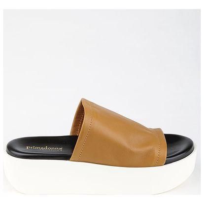 Pantofle Primadonna CALZATURA SANDALO VITELLO CUOI Hnědá