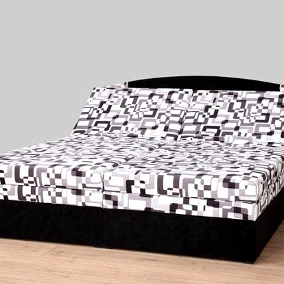 Polohovací dvoulůžková postel Izabela 180 cm, černá