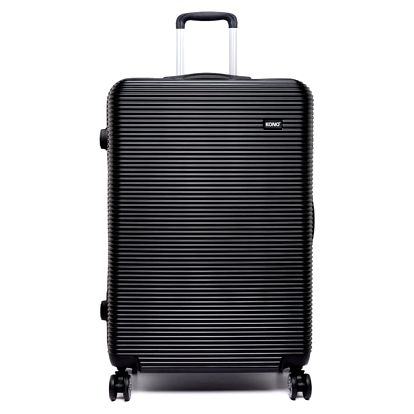 Dámský střední černý kufr na kolečkách Travel 6676