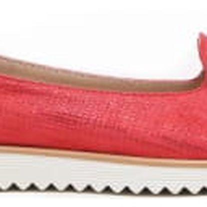 Dámské červené espadrilky Carmen 1154