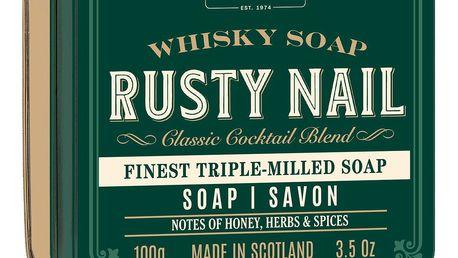 SCOTTISH FINE SOAPS Mýdlo v plechové krabičce Rusty Nail Cocktail, zelená barva, kov