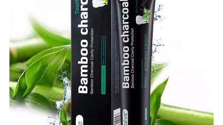 Černá bělicí zubní pasta Bamboo - Černá pasta pro bílé zuby!