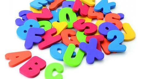 Písmenka a čísla do vany