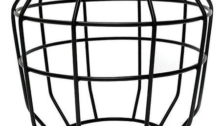 Černý příruční stolek s deskou z mangového dřeva LABEL51 Pixel, Ø51 cm