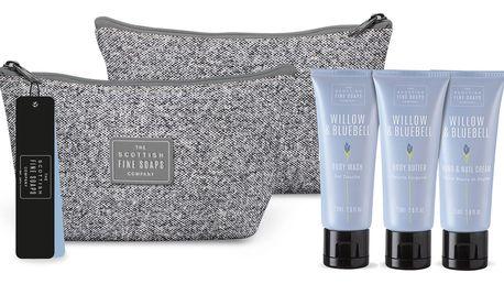 SCOTTISH FINE SOAPS Cestovní taštička s kosmetikou Willow & Bluebell, fialová barva