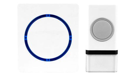 Zvonek bezdrátový Solight 1L45, na baterie, 120m - bílý (1L45)