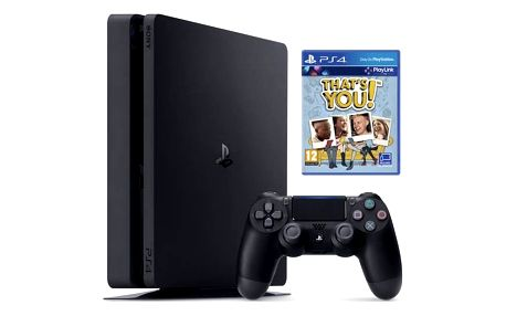Sony PlayStation 4 SLIM 500 GB + That's You (PSN voucher) (PS719919063) černá