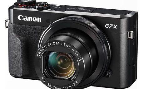Digitální fotoaparát Canon PowerShot G7X Mark II černý + dárek (1066C002)