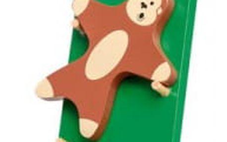 Dřevěná hračka padající opička