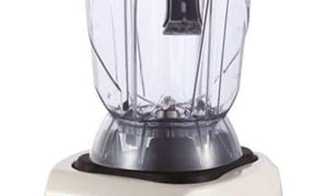 Stolní mixér G21 Blender Perfect smoothie white bílý + dárky Příslušenství k robotům G21 Kniha Secret of Raw Tajemství syrové stravy + Náhradní nádoba G21 Perfect Smoothie 1,3 L černé/průhledné v hodnotě 1 689 Kč