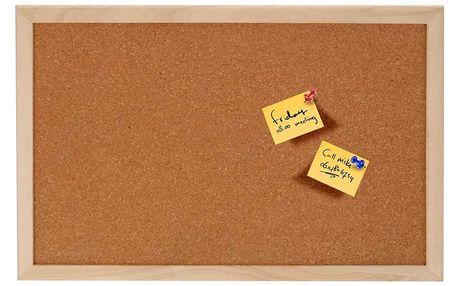 Korková tabule na poznámky, 60x45 cm Emako