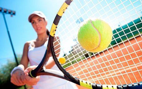 1 hodina tenisu na antuce pro dvě až čtyři osoby