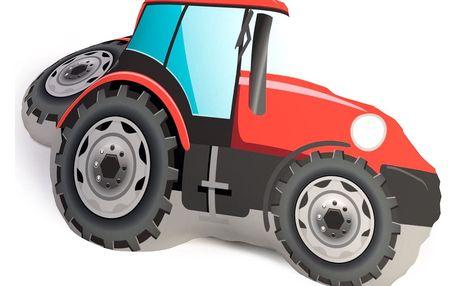 TipTrade Tvarovaný 3D polštářek Traktor, 35 x 50 cm