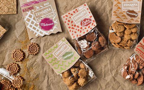 Bio sušenky i slané krekry z Biopekárny Zemanka