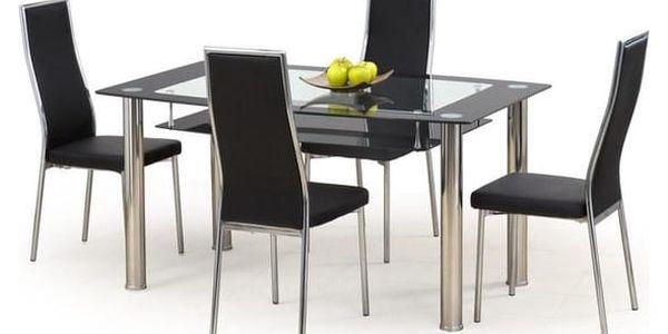 Skleněný stůl Cristal černá2