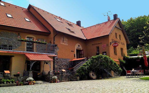 Penzion Nemanský Mlýn u Domažlic s polopenzí a bazénem