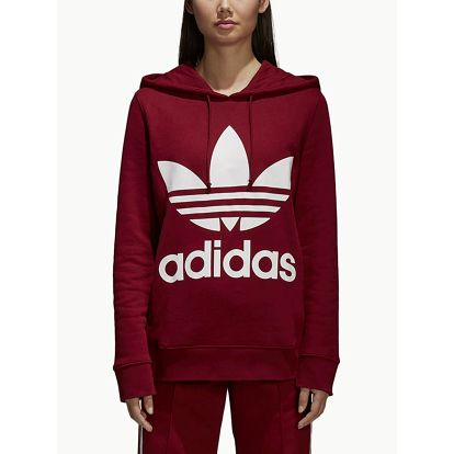 Mikina adidas Originals Trefoil Hoodie Červená