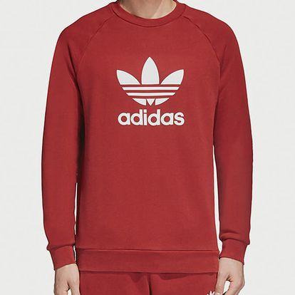 Mikina adidas Originals Trefoil Crew Červená