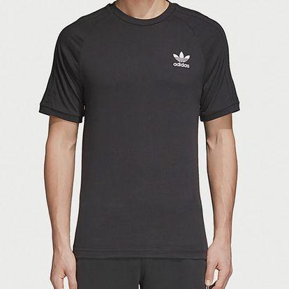 Tričko adidas Originals 3-Stripes Tee Černá