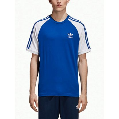 Tričko adidas Originals 3-Stripes Tee Modrá