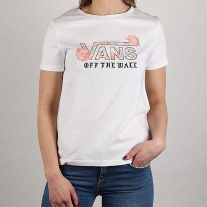 Tričko Vans Wm Poppy Dream Basic White Bílá