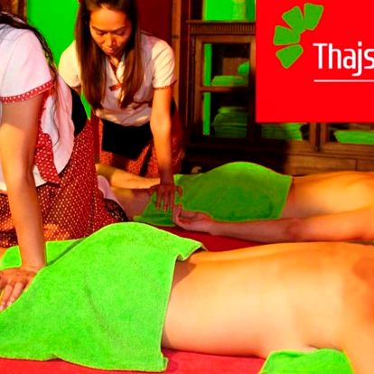 Párová relaxace v Thajském ráji: masáž a rybky