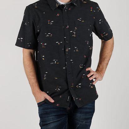Košile Vans Mn Tres Palmas Ss Black Tres P Černá