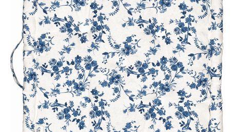 GREEN GATE Sedák Vanessa blue 50x50, modrá barva, textil