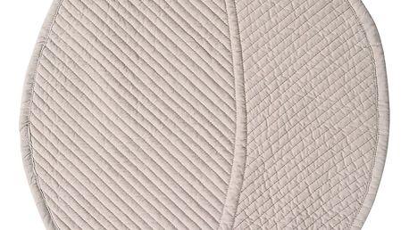 CÔTÉ TABLE Prošívané prostírání Leaf Pearl, béžová barva, textil