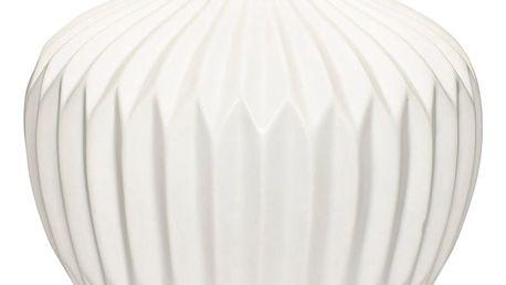 Bílá kameninová váza Hübsch Kjeld, výška21cm