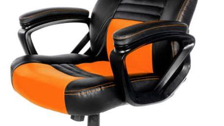 Herní židle Arozzi MONZA černá/oranžová (MONZA-OR)