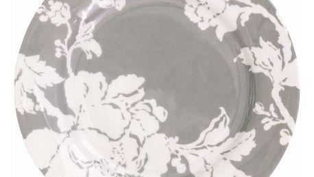 GREEN GATE Dezertní talíř Ingrid sand, šedá barva, porcelán