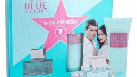 Antonio Banderas Blue Seduction For Women dárková kazeta pro ženy toaletní voda 50 ml + tělové mléko 100 ml