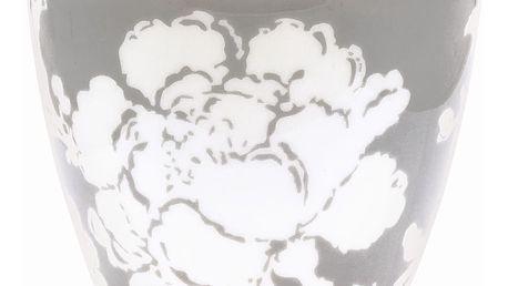 GREEN GATE Latte cup Ingrid sand, šedá barva, bílá barva, porcelán 300 ml