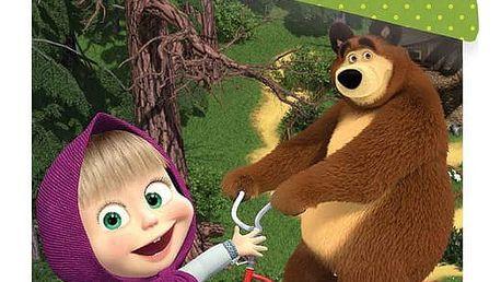 Jerry Fabrics Dětské bavlněné povlečení Máša a medvěd 015, 140 x 200 cm, 70 x 90 cm