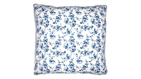 GREEN GATE Prošívaný povlak na polštář Vanessa blue 50x50, modrá barva, textil