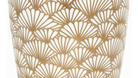 GREEN GATE Latte cup Jacqueline gold 350 ml, bílá barva, zlatá barva, porcelán 350 ml