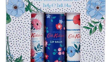 Cath Kidston Sada balzámů na rty Posy Bunch - 3x4g, modrá barva