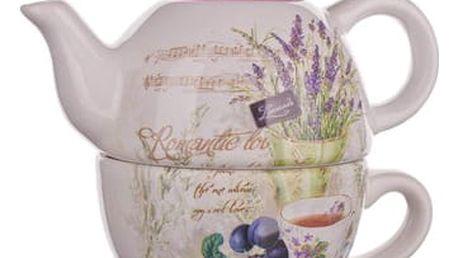 Banquet Konvička 360ml se šálkem 330ml Lavender 60ZF1124-A