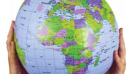 Nafukovací míč Zeměkoule