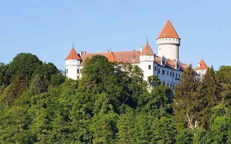 Ubytování motelového typu u zámku Konopiště s polopenzí