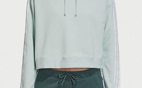 Mikina adidas Originals Cropped Hoodie Modrá