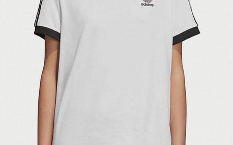 Tričko adidas Originals 3 Stripes Tee Bílá