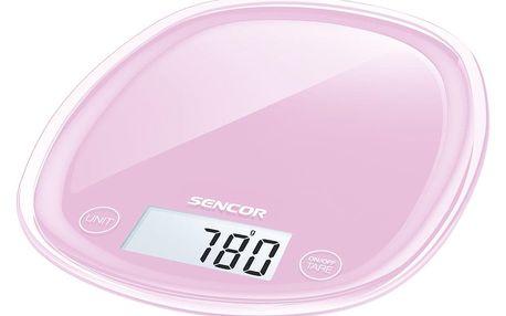 Sencor SKS 38RS kuchyňská váha, růžová