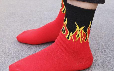 Originální ponožky Oheň