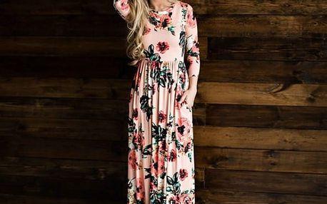 Dlouhé květované šaty Selena - 12 variant
